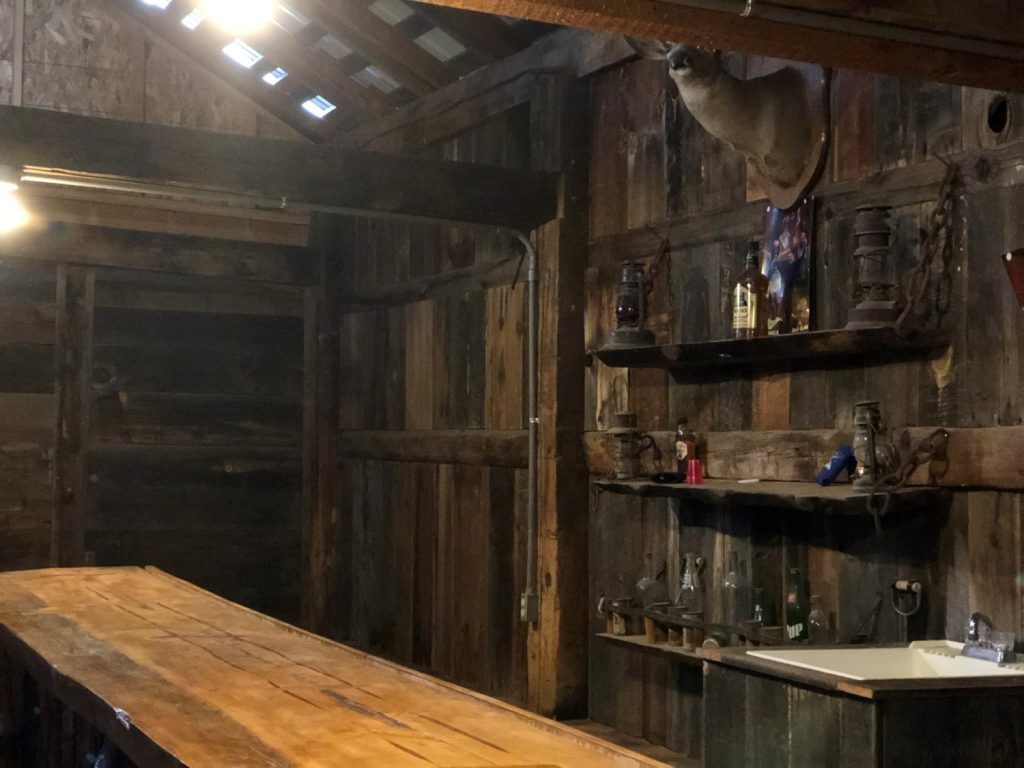 100 Percent Wood Carved Bar Inside The Itchy Bck Saloon