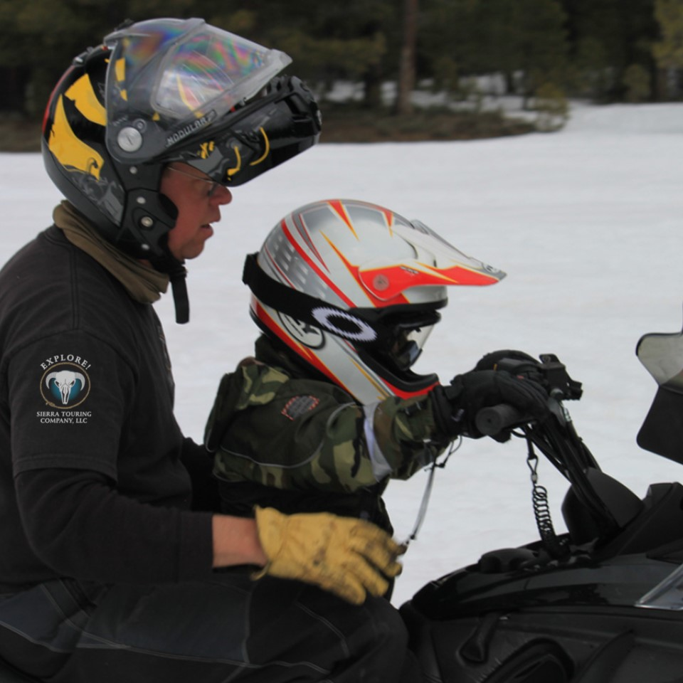 Toddlers on Snowmobile Tours
