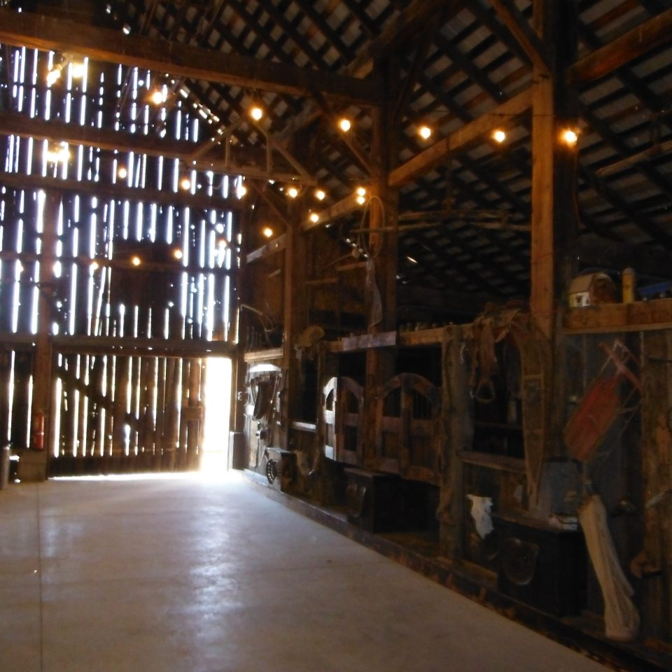 Diamond S. Ranch Barn in Sierra Valley inside the wedding vvenue