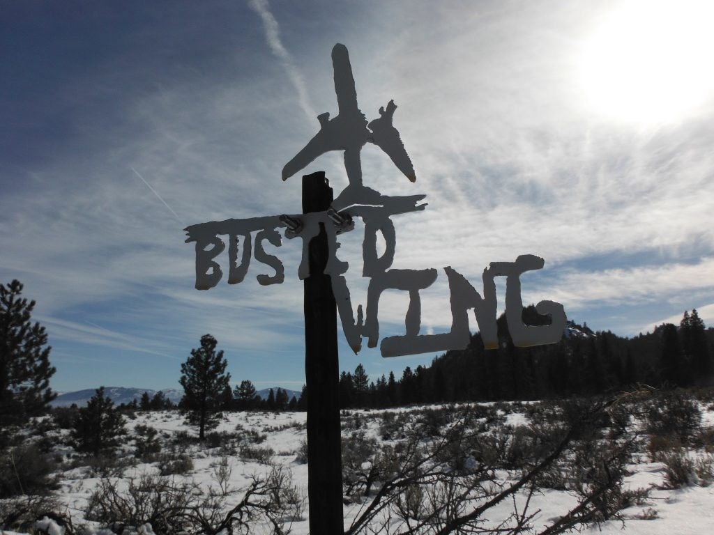 Explore! Sierra Touring Company ATV Trail Sign - Busted Wing