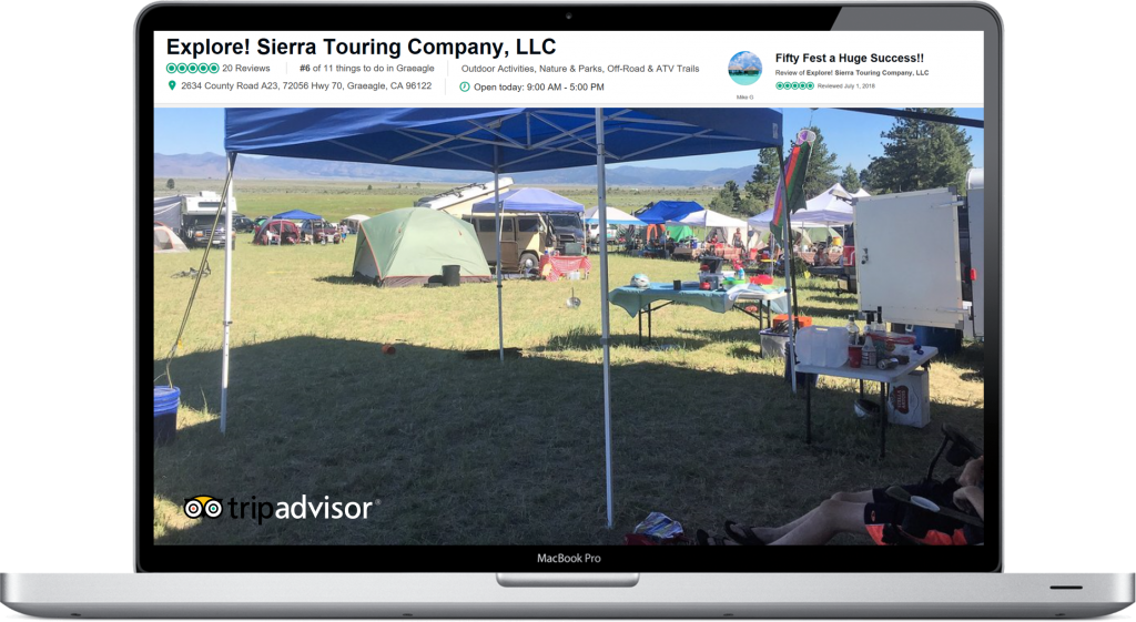 Explore Sierra Touring Company is the perfect outdoor party venue