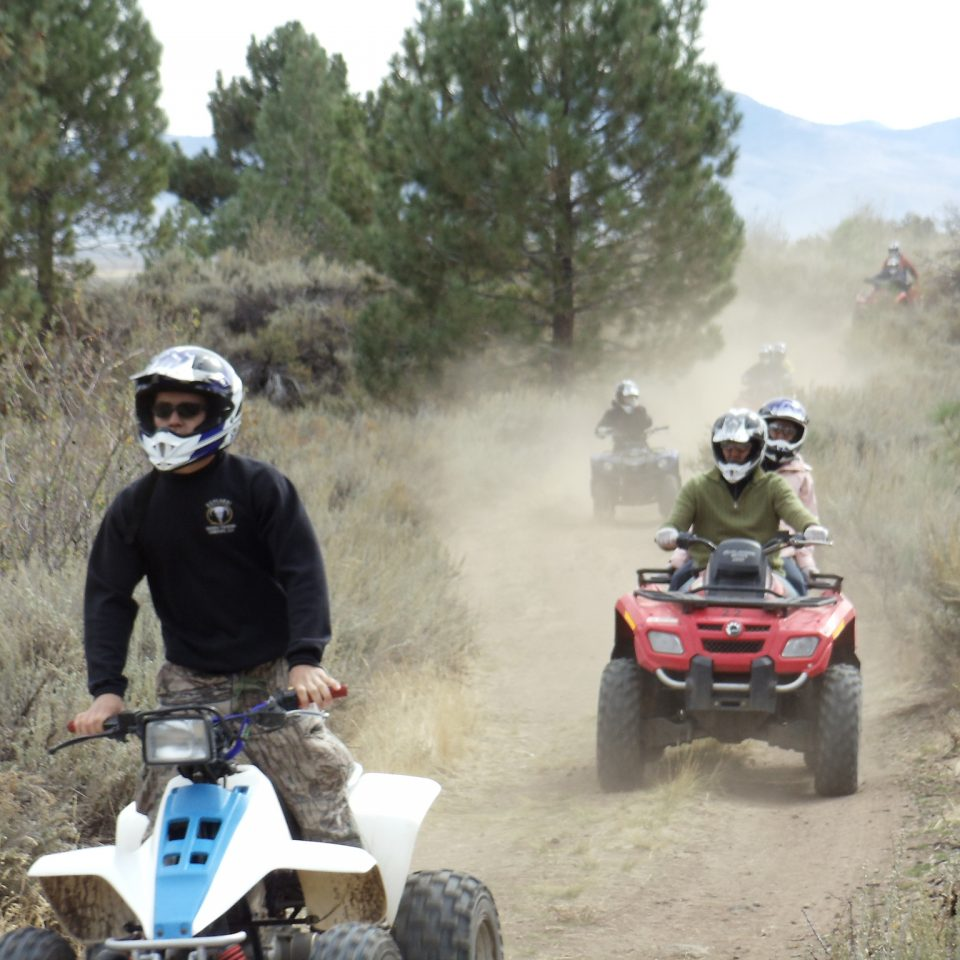 The view from explore sierra touring atv ride begin with big groups