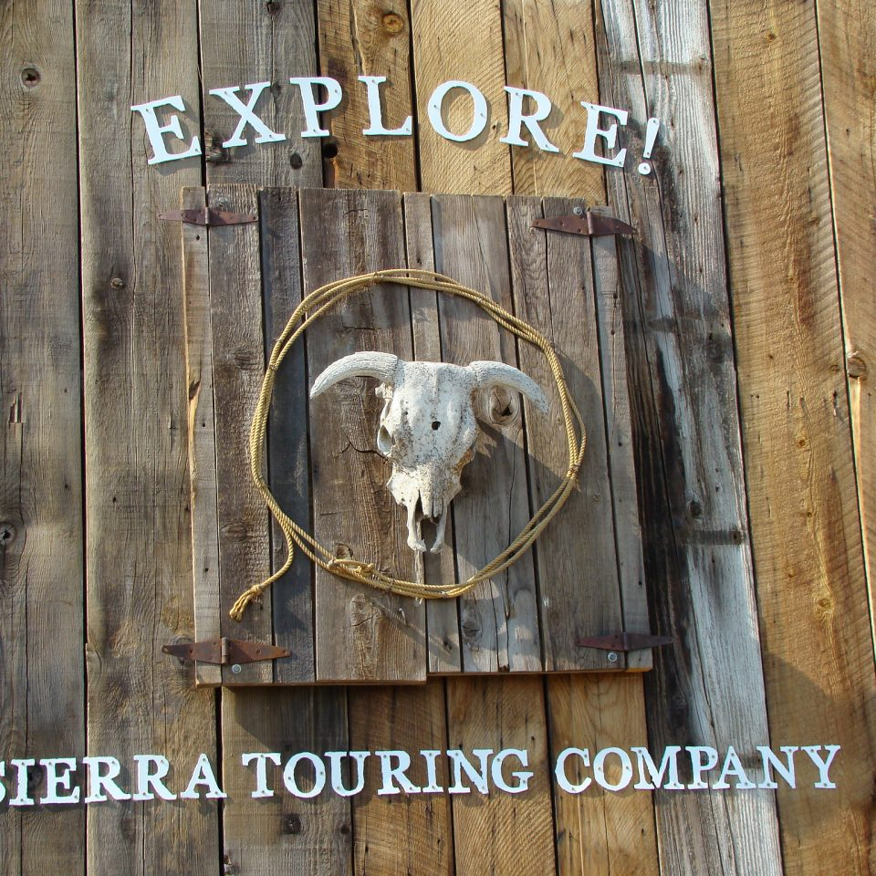 Diamond S. Ranch Barn in Sierra Valley CA with ATV Tours Signage