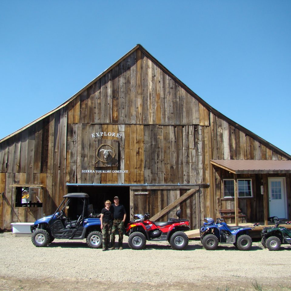 Diamond S. Ranch Barn in Sierra Valley CA with ATV Tours with Ken and Kathy