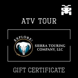 ATV Tour Gift Certificate for Explore Sierra Touring Company