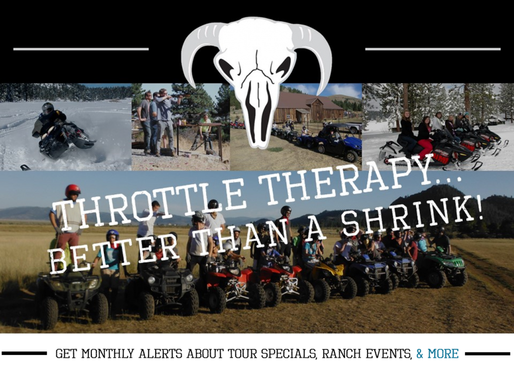 Discover Why Throttle Therapy is Better Than A Shrink when you join us for an ATV Tour