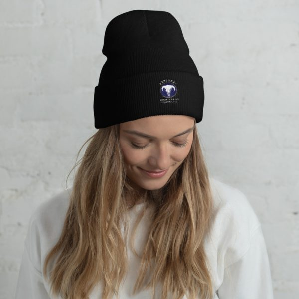 Explore Sierra Touring Company Beanie on a Woman