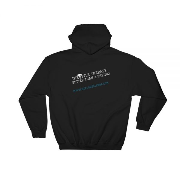 Throttle-Therapy--Better-Than-A-Shrink Hood Black Sweatshirt for Adventurers