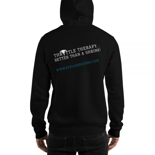 Throttle-Therapy--Better-Than-A-Shrink Hood Black Sweatshirt