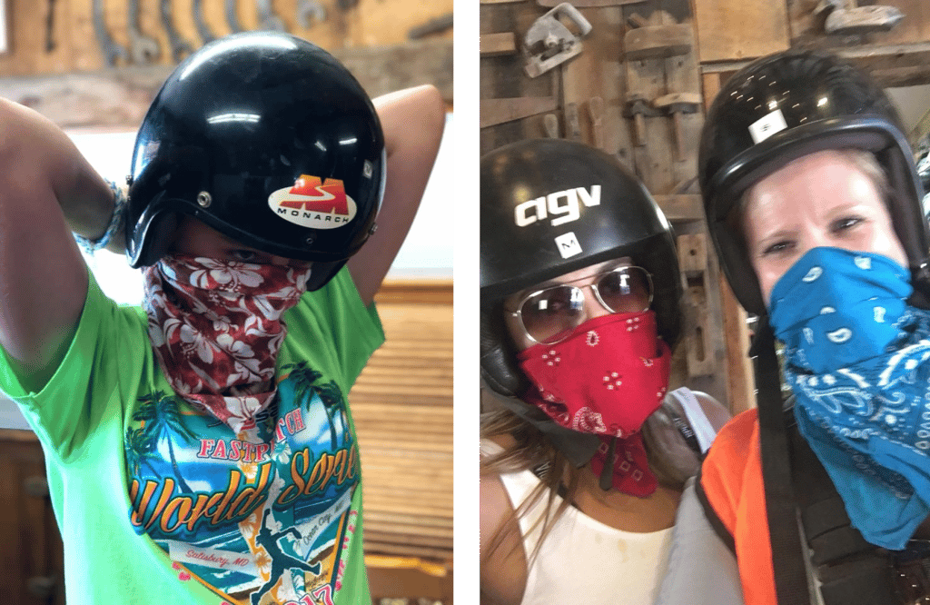 Wear a bandanna on your ATV Tour