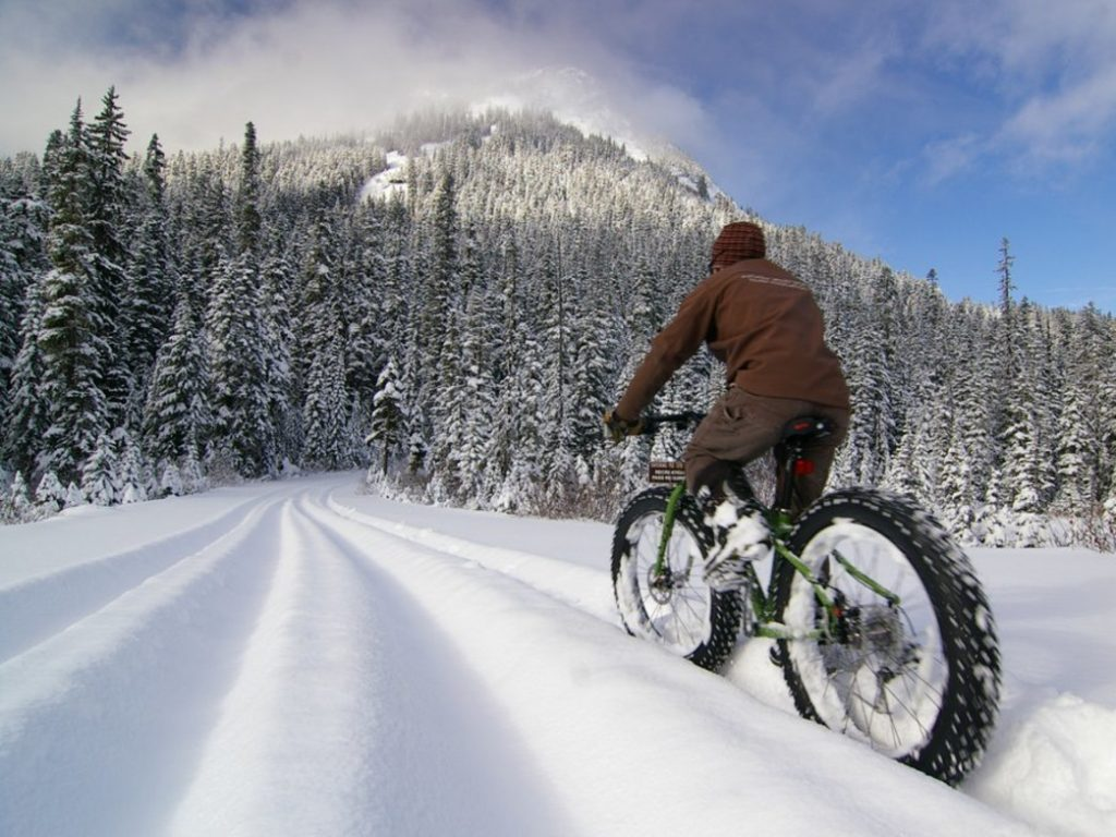 Bike the mountains in the winter